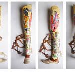 Straight Leg 02, Akrylmarker auf Beinprothese 2013