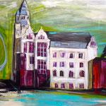 Gladbecker Rathausplatz, verkauft  (als Klappkarte erhältlich)