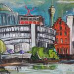 Düsseldorf City   100 x 120 cm verkauft/sold