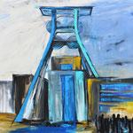 Besucher auf Zollverein 150 x 200 cm verkauft/sold