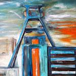 Zollverein Industriedenkmal/Essen 145 x 200 cm verkauft/sold  (als Klappkarte erhältlich)