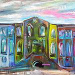 Maschinenhalle Eingangsportal         80 x 100 cm  verkauft/sold