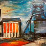 Consolidation orange   135 x 165 cm  verkauft/sold