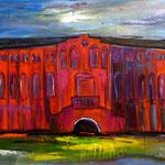 Maschinenhalle rot, verkauft