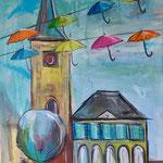 Schirme in Dorsten, 70 x 50 cm