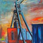 Hugo/Gelsenkirchen 100 x 80 cm verkauft/sold (als Klappkarte erhältlich)