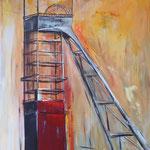 Erin Orange-Rot 150 x 100 cm verkauft, sold