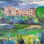 Frühling auf Villa Hügel 80 x 120 cm