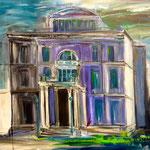 Villa Hügel Haupthaus 80 x 100 cm  verkauft/sold