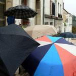 Les parapluies sont sortis