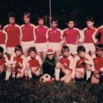 D-Jugend Kreispokalsieger 1984 / stehend: Trainer N. Biller, St. Schiren, M. Peter, M. Müller, M. Walle, F.J. Weidmann, Ch. Diehl, Ch. Heib, Ch. Schuff / knieend: F. Wendel, M. Tröss, T. Hellwig, U. Zimmer, S. Luck, P. Wallacher, Ch. Redel