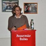 Sehr anschaulich berichtete Frau Helga Lauterbach über die schwere Arbeit der Flößer.