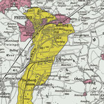 Die Karte zeigt, wie kleinteilig unsere Region bis zur Säkularisation im Jahr 1802/03 in politischer Hinsicht gegliedert war. Die graue Fläche markiert das Kurfürstentum Bayern, gelb ist das Hochstift Freising, rot sind die unterschiedlichen Hofmarken.