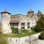 Morat, Château, intérieur: surfaces murales & portes, XIIIème à XXème siècles