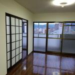 新設した洋室への入り口は元の襖を利用