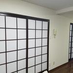 和室の木製枠塗装