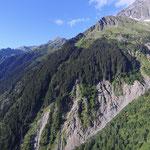Rotloui Rutschung festgestellt und aktiv seit Hochwasser 2005