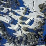 Handegg Hotel schläft unter dem Schnee