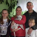 Kaya verließ uns am 01.01. Christiane und Dirk und die Mädels Kiara und Naomi warten schon Mai 2016 auf ihren kleinen Schatz.