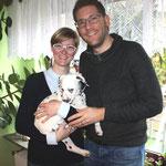 Kyra wohnt mit ihrer Familie im Nachbarort Contwig und wir hoffen sie des Öftern zu sehen. Sie wird  Mini-Herrchen Luca, Sina und Benjamin ganz schön auf Trab halten