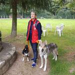 Therapiehund Isis mit Hundeführer