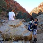 Wanderung in die Redbank Gorge