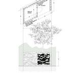 Plan et élévation de l'abri de jardin
