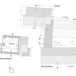 Plan des toiture et de la mezzanine