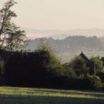 La vue depuis le site au petit matin