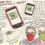 The Covid Safe tracking app was released and we got ourselves face masks but were too self conscious to wear them.