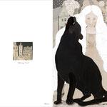7,黒豹と少女メッセージカード