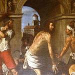 La Flagellazione del Guercino (particolare)