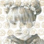 理想的なこども 5   鉛筆・アクリル・ケント紙   185×185