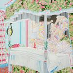 寝室の   アクリル・油彩・綿布・パネル   455×530