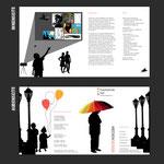 """Flyer """"Werbung für Studiengang Mediendesign"""", Semesterarbeit"""