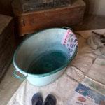 お風呂。水の無い村でお風呂を出してくれるのは最高のおもてなしである。(マツィアラ村)