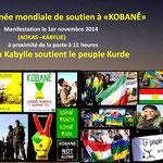 Affiche de militants amazighs en solidarité avec le peuple kurde!