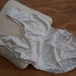 Trainingsbody Weiss mit Ballett-Naht, Gr. 38, 1x getragen
