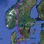 Bis hoch in den Norden....3000Kilometer einfach.!!!
