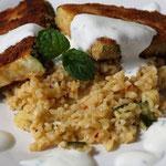 Zucchini-Schnitzel mit Joghurt