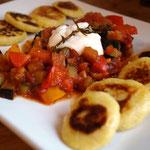 Kartoffeltaler mit Gemüse