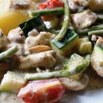 Gemüse-Hähnchen-Pfanne