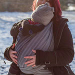 MADALO Sombrita Negra - baby wrap - Handgewebtes Babytragetuch