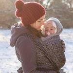 MADALO Sombra Negro - baby wrap - Handgewebte Babytragetücher