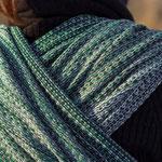 MADALO Sombra Verde - baby wrap - Handgewebte Babytragetücher