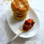 les croquettes de fava sauce aux câpres de Santorin