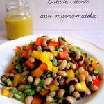 Salade de mavromatika aux poivrons