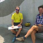 Nach Invercargill treffen wir Daniele aus Italien, der ebenfalls mit dem Velo unterwegs ist.