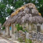 Alte, Gras gedeckte Häuser sehen wir vor allem auf dem Land noch häufig.