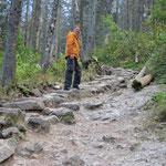 Die Wege im NP sind meist sehr steinig, gleichen oft endlosen Treppen.